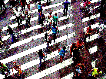 Rua movimentada